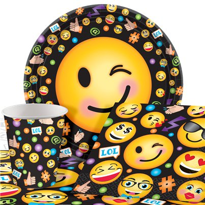Smiley - Party-Set - Für 8 Personen