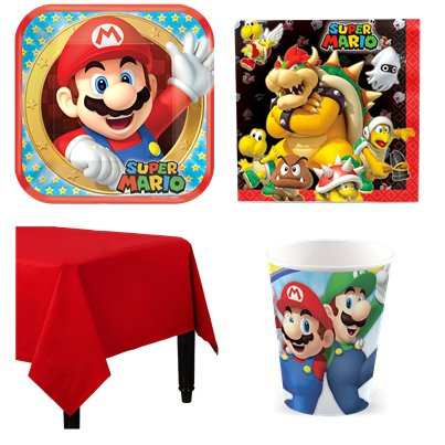 Super Mario - Party Deko Set - Für 8 Personen