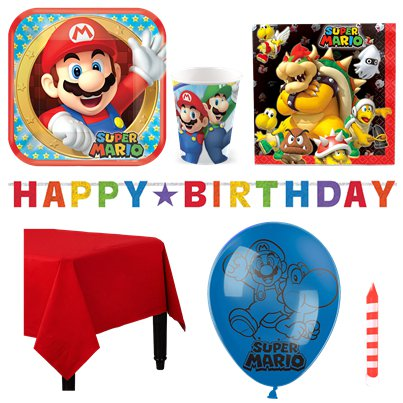 Super Mario - Premium Party Deko Set - Für 8 Personen