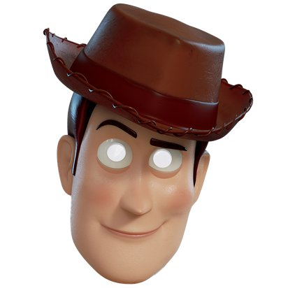 Woody Toy Story 4 - Maske Kinder front