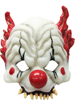 Halloween Clown-Horror-Halbmaske