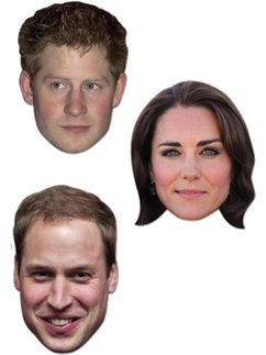 Die jungen Royals William, Harry und Kate