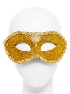 Golden glitzernde Maskerade-Maske
