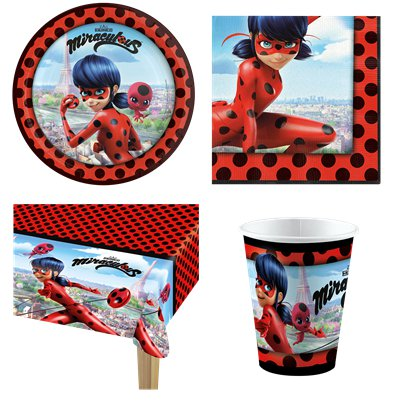 Miraculous Ladybug - Party Deko Set - Für 8 Personen