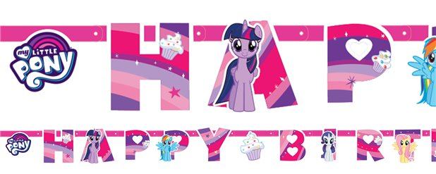 "My Little Pony - ""Happy Birthday""-Girlande 1,3m"