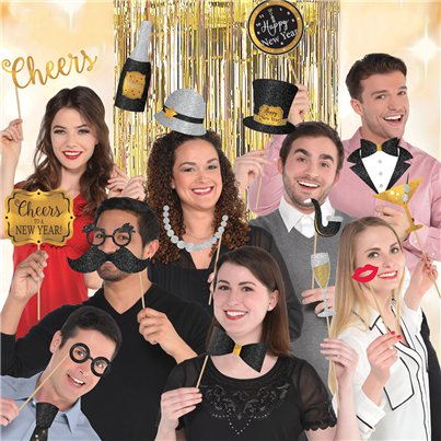 Silvester - Foto-Requisiten Photo Booth Set