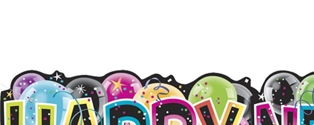 """Happy New Year"" Silvester Banner 1,37m"