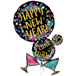 "Martini ""Happy New Year"" Folienballon 86cm"