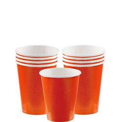 Orange Pappbecher 266ml