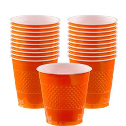 Orange Plastikbecher 266ml