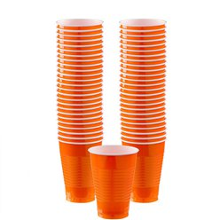 Orange Plastikbecher 355ml