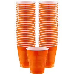 Orange Plastikbecher 473ml