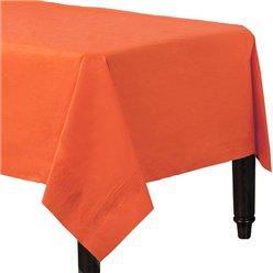 Orange Papiertischdecke 3-lagig 1,4m x 2,8m