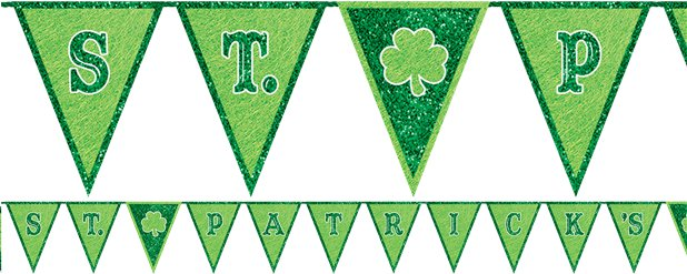 St. Patrick's Day - Girlande 3m