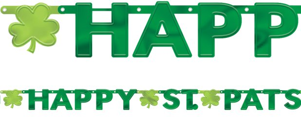 """Happy St Pats"" Girlande 2,43m"