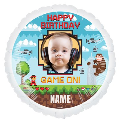 Game On - Personalisierter Folienballon 57cm