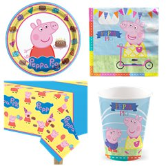 Peppa Wutz - Party-Set - Für 8 Personen