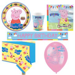 Peppa Wutz - Premium Party-Set - Für 8 Personen