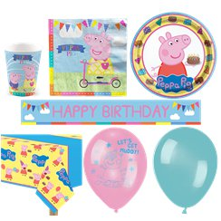 Peppa Wutz - Premium Party-Set - Für 16 Personen