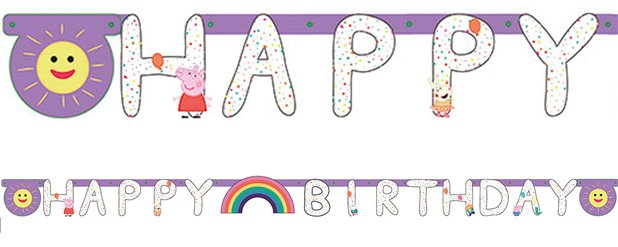 "Peppa Wutz ""Happy Birthday"" Girlande 2,1m x 13cm"