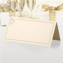 Modernes Herzmotiv in gold