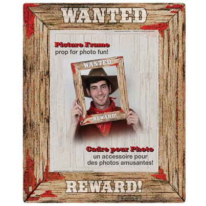 "Rodeo Wilder Westen ""Wanted"" Foto-Requisite Rahmen 43cm"