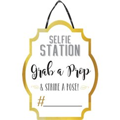 "Fotostand ""Selfie-Station"" Personalisierbares Schild Photo Booth"