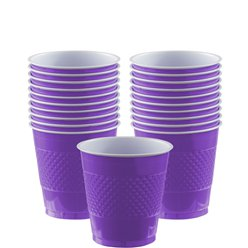 Violette Plastikbecher 266ml