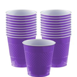 Violette Plastikbecher 355ml
