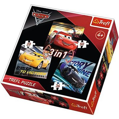Disney Cars 3 in 1 Puzzle Set