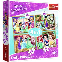 Disney Prinzessin - 4 in 1 Puzzle