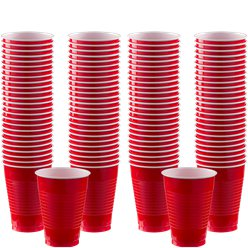 Rote Plastikbecher 355ml 100er-Pack