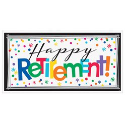 Happy Retirement Pensionierung - Riesenbanner