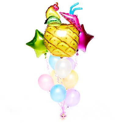 Frucht-Cocktail Sommer Ballons Set