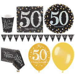 Strahelnder 50. - Premium Party-Set - Für 16 Personen