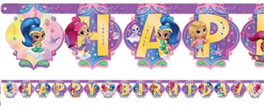 "Shimmer & Shine - ""Happy Birthday"" Girlande 2m"