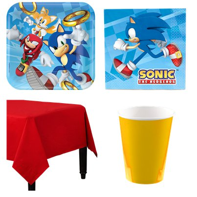Sonic The Hedgehog - Party-Set - Für 8 Personen