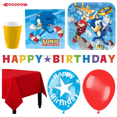 Sonic The Hedgehog - Premium Party-Set - Für 16 Personen