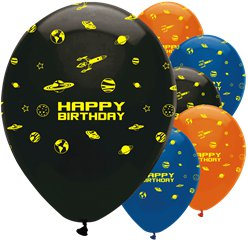 Weltall Party - Luftballons aus Latex 30cm