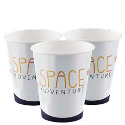 Space Adventure Weltraumabenteuer Pappbecher 200ml