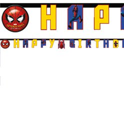 "Spider-Man Homecoming - ""Happy Birthday""-Girlande"