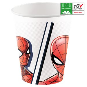 Spider-Man - Kompostierbare Pappbecher 200ml