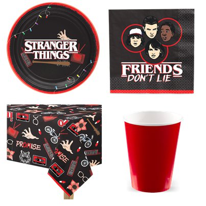 Stranger Things - Party Deko & Geschirr Set