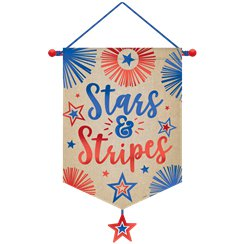 """Stars and Stripes"" USA Canvas-Banner 55cm"