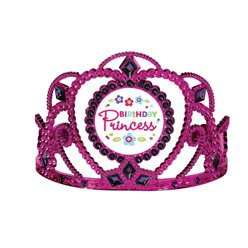 "Pink-blaugrüne ""Birthday Princess"" Tiara"