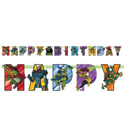 "TMNT Ninja Turtles - ""Happy Birthday"" Geburtstag Girlande 2,1m"