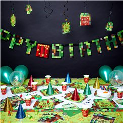 TNT Pixel Party - Ultimatives Premium Party-Set - Für 8 Personen
