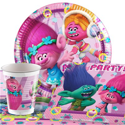 Trolls - Party-Set - Für 8 Personen