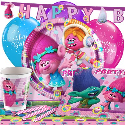 Trolls - Premium Party-Set für 8 Personen