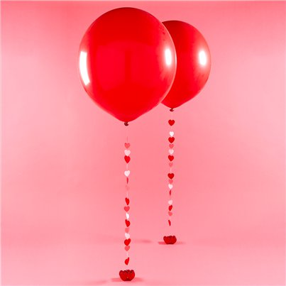 Große rote Luftballons aus Latex 91cm - Set